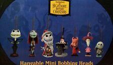 Disney Tim Burton's Nightmare before Christmas Hangable Mini Bobbing Heads RARE!