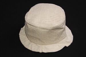 Ladies Thick Cream Canvas Textured Top Hat with Frilled Short Trim (S391)