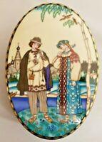 Vintage Heinrich Villeroy /& Boch The Snow Madien Snegurochkka porcelain trinket box W Germany Russian Fairy Tales