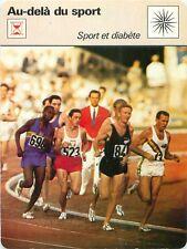 FICHE CARD Sport & Diabète Sir Murray Gordon Halberg  5000 M Rome Roma JO 70s