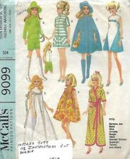 McCall's 9099 Teen Fashion Doll Wardrobe for 11 ½ inc dolls 1967 Barbie & More