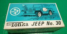 1970'S VINTAGE MINI-TONKA #30 BLUE JEEP WITH BOX EXCELLENT