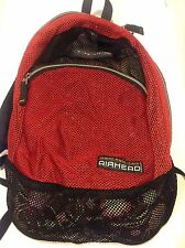 Ogio Mesh see thru snorkeling backpack Lightweight Red Black Two Compartments