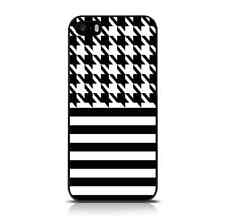 Houndstooth Fashion Case for iPhone 5/5S/SE - Black & White