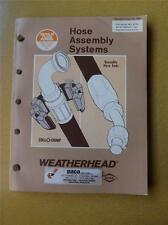 WEATHERHEAD CATALOG HOSE ASSEMBLY SYSTEMS DANA 1985 PACA SALES KITCHENER ONTARIO