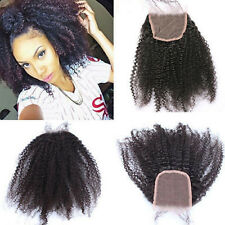 "100% Virgin Human Hair Afro kinky curly 4*4"" top lace closure for Black Women"