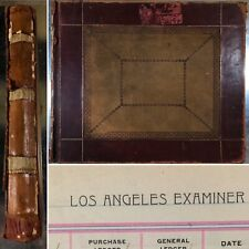 Rare 1909 William Randolph Hearst Los Angeles Examiner Accounting Ledger