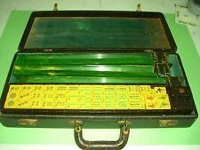 Vintage Mah Jong Bakelite Set w/ 5 Racks, Case & 158 tiles GREAT COND! Mahjong