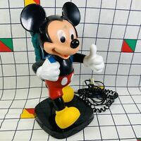 Vintage Retro Disney Mickey Mouse Backpack Phone Telephone Tyco Tested & Working