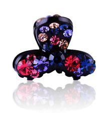 QUALITY Hair Claw using Swarovski Crystal Hairpin Clip Fashion Mini Blue Red