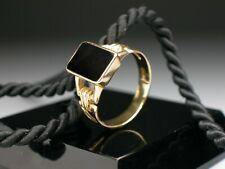 Art Deco Onyxring aus 585er (14K) Roségold um 1930 - Ring für Damen & Herren