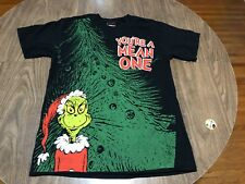 You're A Mean One Grinch Who Stole Christmas Medium Black T Shirt Dr Seuss