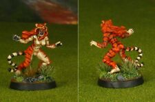 PRO PAINTED REAPER MINIATURES CLEO WERETIGER TIGRESS DUNGEONS AND DRAGONS D&D