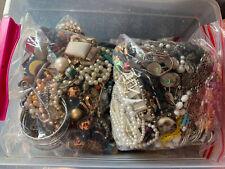 1.5KG Costume Jewellery Mixed Job Lot Bundle Resell Wear Craft Harvest