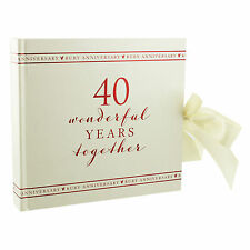 Amore Paperwrap Ruby Wedding Anniversary 40th Photo Album WG71140