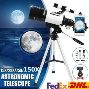 150X70mm Aperture Astronomical Telescope Refractor Tripod Finder Beginners FedEx