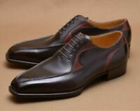 Mens Handmade Shoes Stylish Oxfords Two Tone Leather Formal Dress Casual Boots
