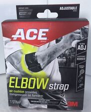 ACE Elbow Strap Adjustable Size Support For Golf Tennis And Cross Training NEW