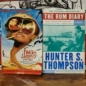 2 Hunter S Thompson Fear & Loathing in Las Vegas & The Rum Diary Paperback Books
