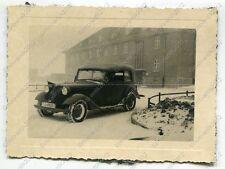 Foto, Wehrmacht, PKW, BMW mit Stander, Nahaufnahme (W)1313