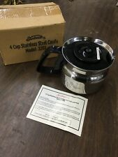 Sunbeam Cuisinart coffee 4 Cup stainless steel 3288 Carafe Black warming pot