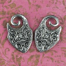 Shield Design White Brass Ear Weights Hangers