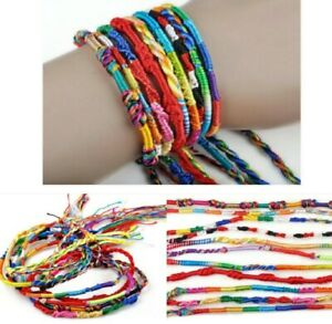 Friendship Bracelets Anklet Cotton Thread Woven Neon Bracelet Party Bag Ankle UK