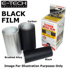 E-Tech BLACK Technik Detail Protection Film 1m x 12.5cm Car Bikes sill Styling