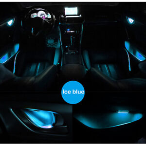 Ice Blue Car Door Bowl Handle LED Ambient Atmosphere Light Interior Universal