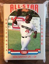 1988 California League ALL STAR Set KEN GRIFFEY Jr. HOF  F6020707