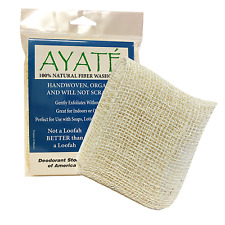 Ayaté 100% Natural and Organic Exfoliating Fiber Wash Cloth