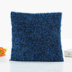 Plush Solid Pillow Case Cover Sofa Bed Waist Throw Square Cushion Home Decor New