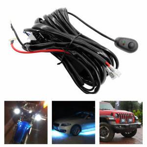 Universal LED Driving HID Fog Lamp 12V 450W Work Light Bars Wiring Harness Kits
