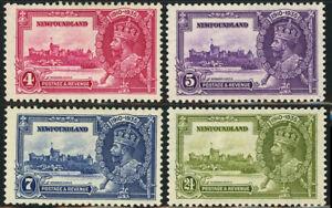NEWFOUNDLAND SG #250-253 Silver Jubilee British Commonwealth Postage 1935 MLH