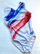 GABBY Douglas GK Elite LEOTARD Gymnastics FLAG Old Glory USA Gabrielle White CM