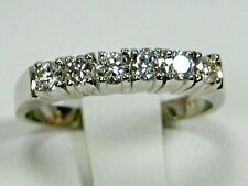Diamond Band 18K White gold Natural Untreated Engagment Heirloom app $2,389.78
