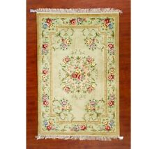 Yilong 4'x6' French Handmade Silk Carpet Eco Friendly Parlor Hand Craft Area Rug