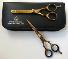 "6"" Professional Barber Hairdressing Salon Thinning & Haircutting Scissor Gold"