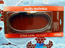 Audio Technica AT 622 Cable assembly..gold plated, (para platos o tocadiscos)