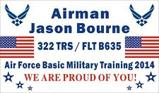 3ftX5ft Custom Personalized Air Force Basic Military Training Graduation Banner