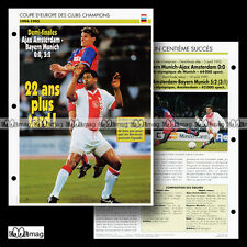 #073.08 AJAX AMSTERDAM-BAYERN MUNICH Avril 1995 ZICKLER RIJKAARD Fiche Football
