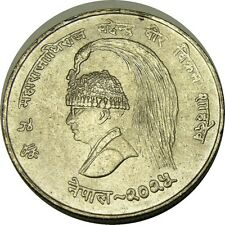 elf Nepal 10 Rupees 1968  FAO Silver