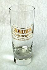 Tall Collector Shot Glass Shooter SAUZA CONMEMORATIVO Smooth Oak Aged Tequila