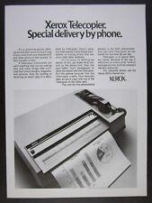 1971 Xerox 400 Telecopier fax machine photo vintage print Ad