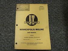Minneapolis Moline G VI M5 5 Star UB & UTS Special Tractor Service Repair Manual