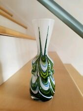 Vintage/MCM Carlo Moretti ITALIAN Art Glass VASE MURANO/Venetian Sommerso Swirl