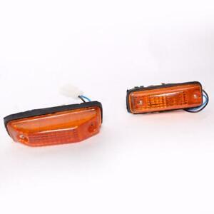 Side Marker Lamp Light Pair Fit Toyota Corona RT130 XT130 RT132 Sedan 1978-80