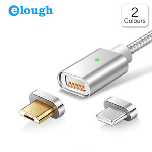 Elough E04 Magnetic Cable 2.4A Charging Data Sync for Type C Micro USB 1m