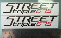 TP Street Triple 675 Verkleidungs Abziehbilder Aufkleber / Decals Stickers /1061