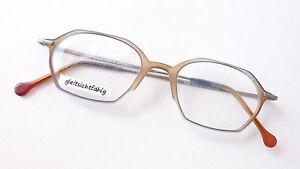 Brillengestell aus leichtem Kunststoff graublau-braun Verlauf ausgefallen Gr. L